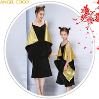 Mother And Daughter Dress Matching Mom Girls Family Clothes Outfits Elegant Princess Pageant Vestidos Family Look Mae E Filha