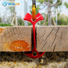 100 pcs ShineTrip Aluminium Alloy Anchor Peg Deck Path Tent Nail Fish Bone Shape Wind Stopper Buckle Camping EDC Tool