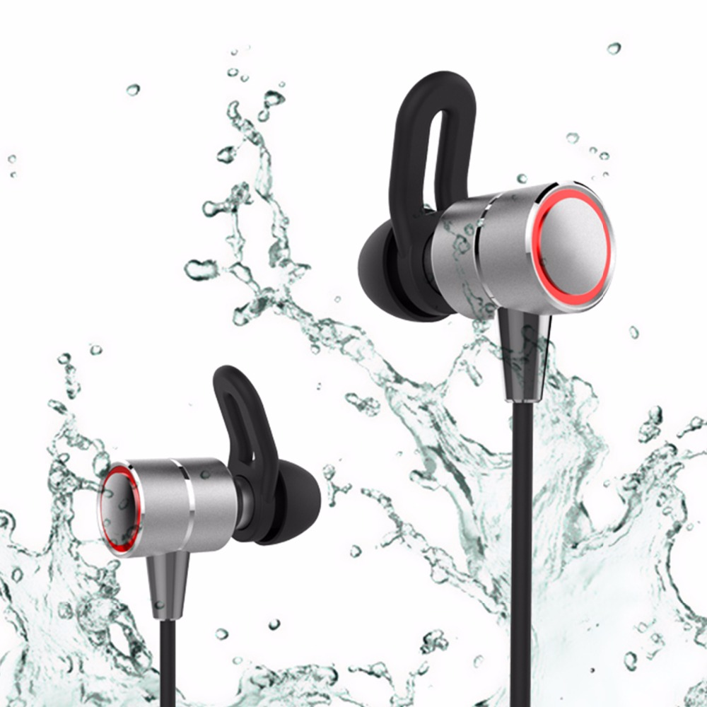 CHICLITS Bluetooth Earphones S60 Metal Magnetic Super Bass Sweatproof Double Battery Wireless Sport Bluetooth Earbuds For Phones