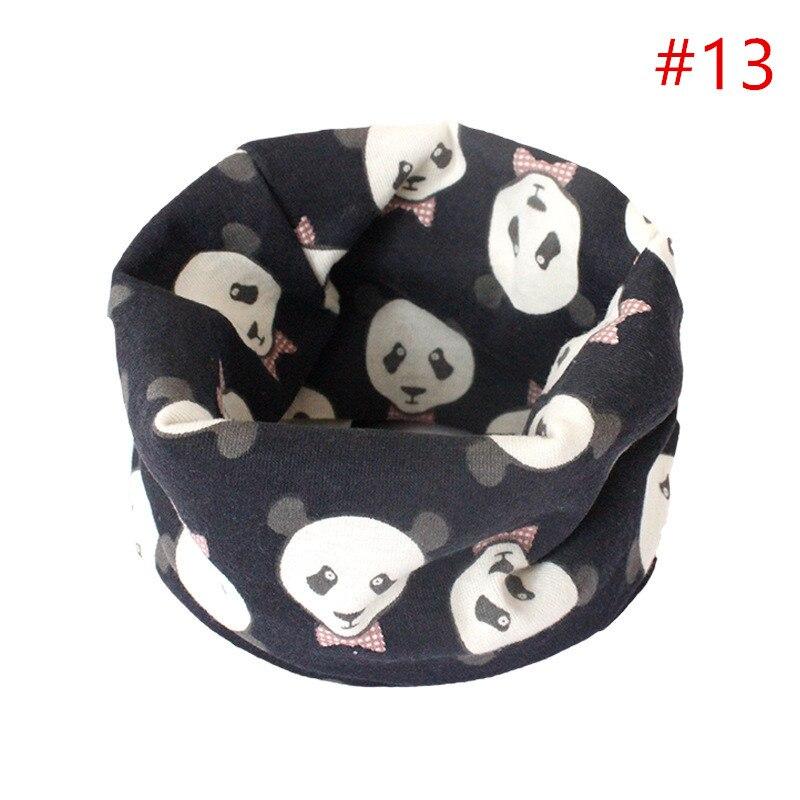 Детский хлопковый шейный шарф с милым принтом; детский теплый шарф; Детские воротники; осенне-зимний шарф-кольцо для мальчиков и девочек; аксессуары для детской одежды - Цвет: No.13