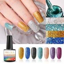 RBAN NAIL 8ml Glitter Holographic Nail Polish UV LED Shining Sequins Art Gel Long Lasting Polishes Varnish