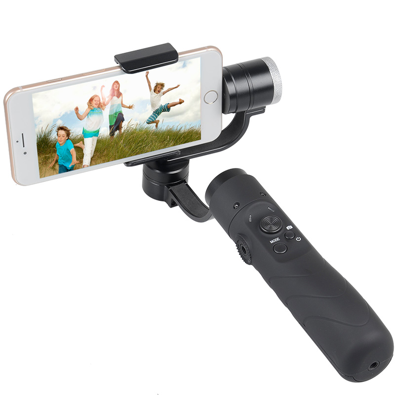 Hot sale AFI V3 brushless yi handheld 3 axis gimbal stabilizer for iphone gopro action camera 3.5 to 6.1 inch smartphone fpv 3 axis cnc metal brushless gimbal with controller for dji phantom camera drone for gopro 3 4 action sport camera only 180g