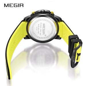 Image 5 - Newest MEGIR Creative Big Dial Chronograph Mens Sports Watches Military Quartz Watch Men Clock Relogio Masculino Reloj Hombre