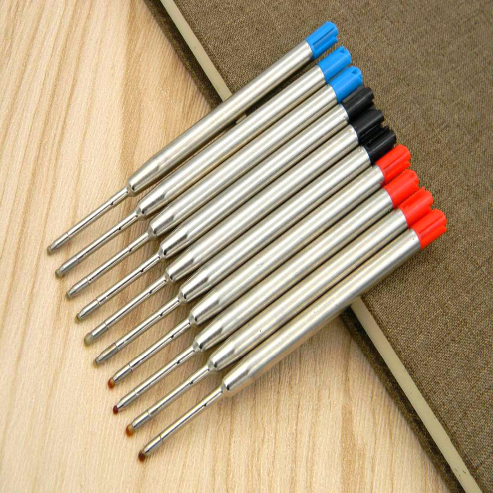 5Pc Red Blue Black FIT FOR Metal PEN Style GIFT Ballpoint Pen Refills