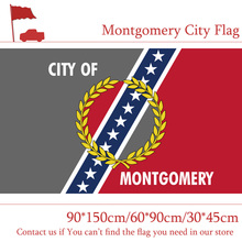 Free shipping 90*150cm/60*90cm/30*45cm Flag of Montgomery Alabama State USA For Celebration