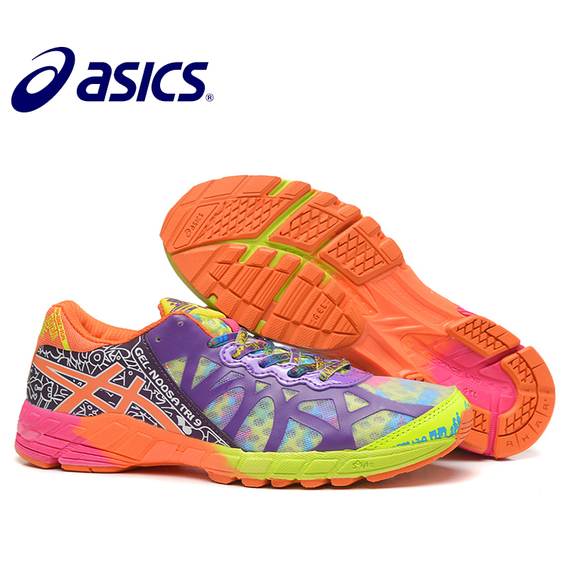 2018 Official Asics Gel-Noosa TRI9 Woman's Shoes Breathable Stable Running Shoes Outdoor tennis shoes classic Hongniu asics tiger gel lyte iii lc