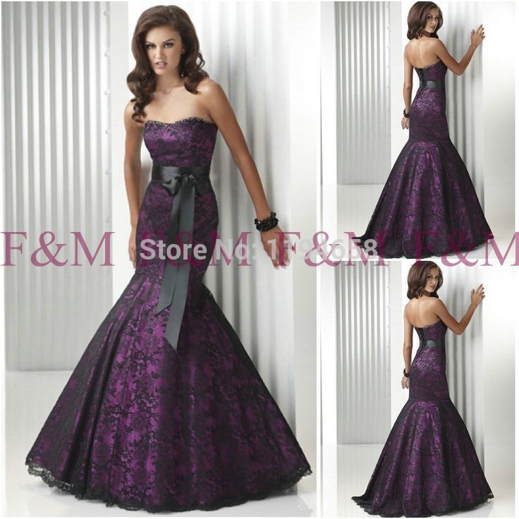 purple beaded trumpet gown – Fashion dresses