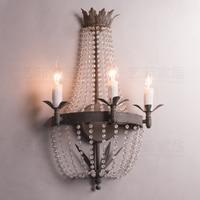 Francês retro fazer o antigo estilo palácio princesa cristal lâmpada de parede quarto lâmpada cabeceira parede|Luminárias de parede| |  -