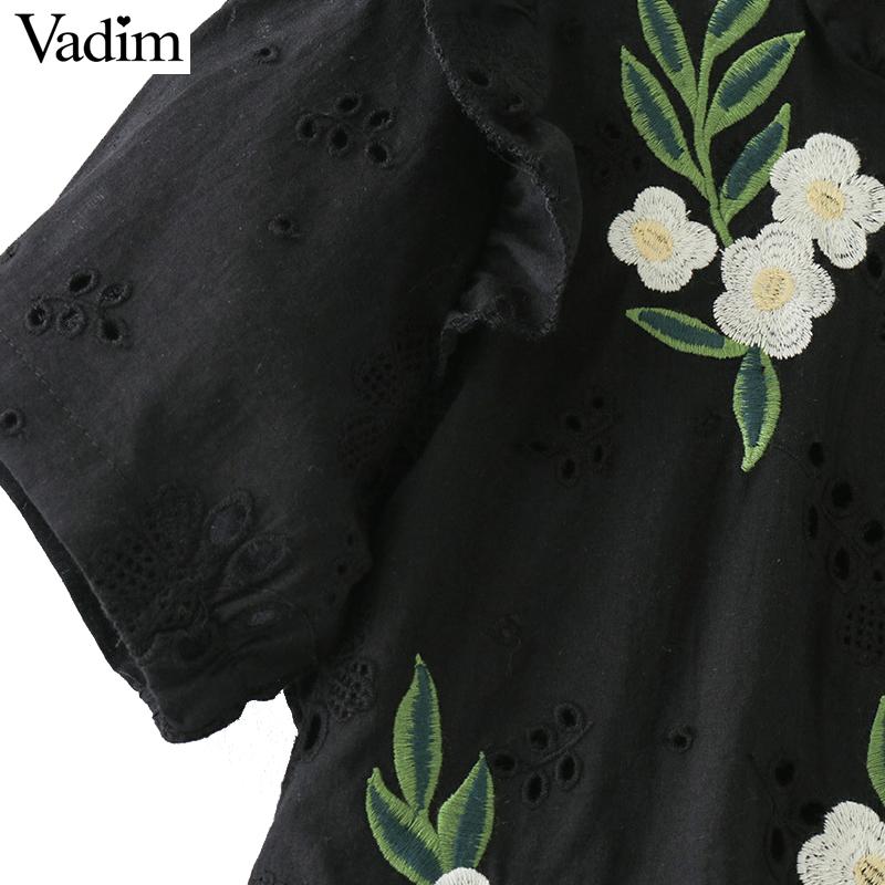 HTB1CwAwQFXXXXXpXFXXq6xXFXXX8 - women sweet ruffles floral embroidery short sleeve tops blusas