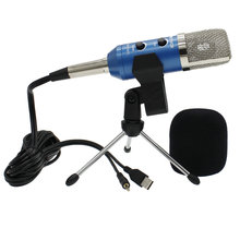 New MK-F200TL Professional USB Capacitive Microphone Adjustable Sound Volume KTV Audio Studio Recording Mic Update MK - F100TL
