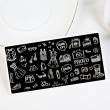 Click It 1Pc Nail Stamping Plates Doodle Set Rectangle Art Stamp Template Image Plate Stencil For Nails YZ254