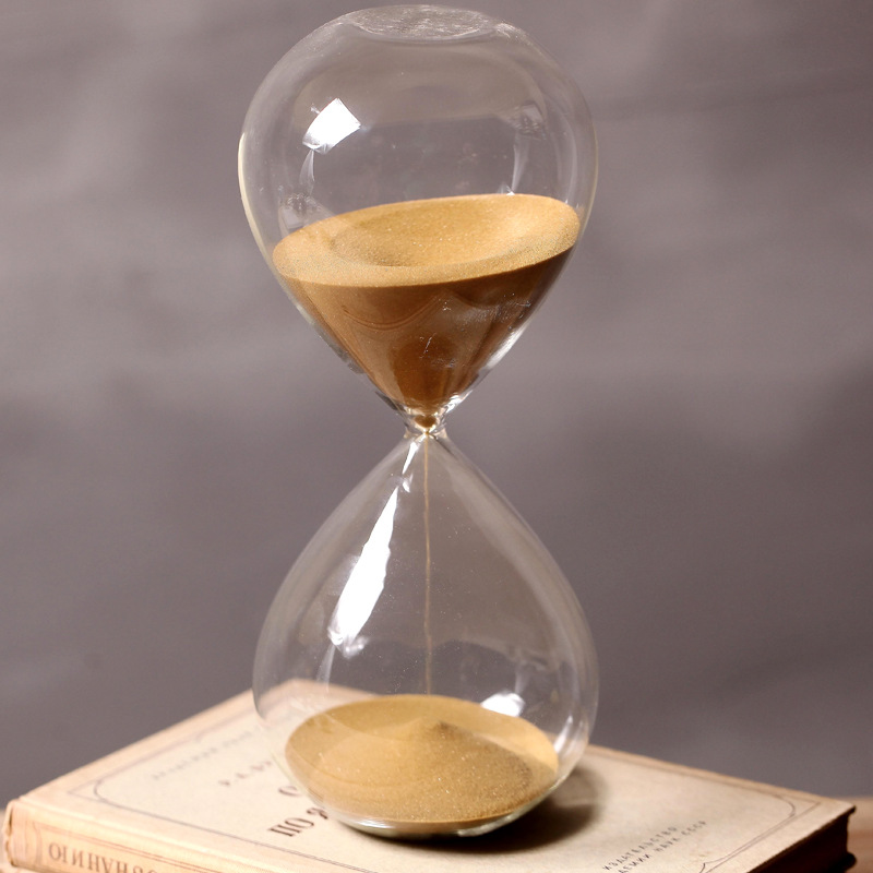 60 Minutes Timing Hourglass Height 24cm Creative Gift Glass Sand Timer Sandglass Golden Sand Home Decoration reloj de arena wallet
