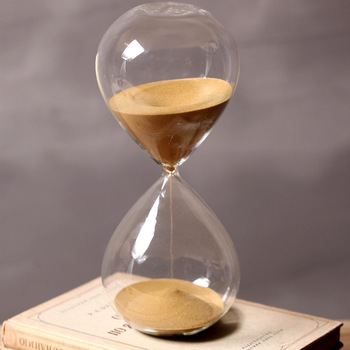 60 Minutes Timing Hourglass Height 24cm Creative Gift Glass Sand Timer Sandglass Golden Home Decoration reloj de arena - sale item Home Decor