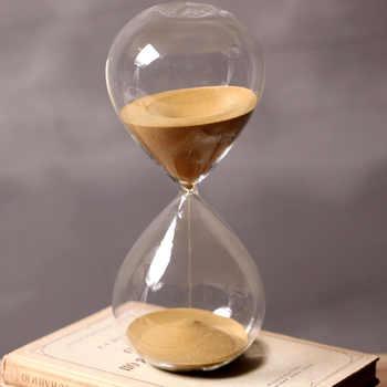 60 Minutes Timing Hourglass Height 24cm Creative Gift Glass Sand Timer Sandglass Golden Sand Home Decoration reloj de arena - DISCOUNT ITEM  47 OFF Home & Garden