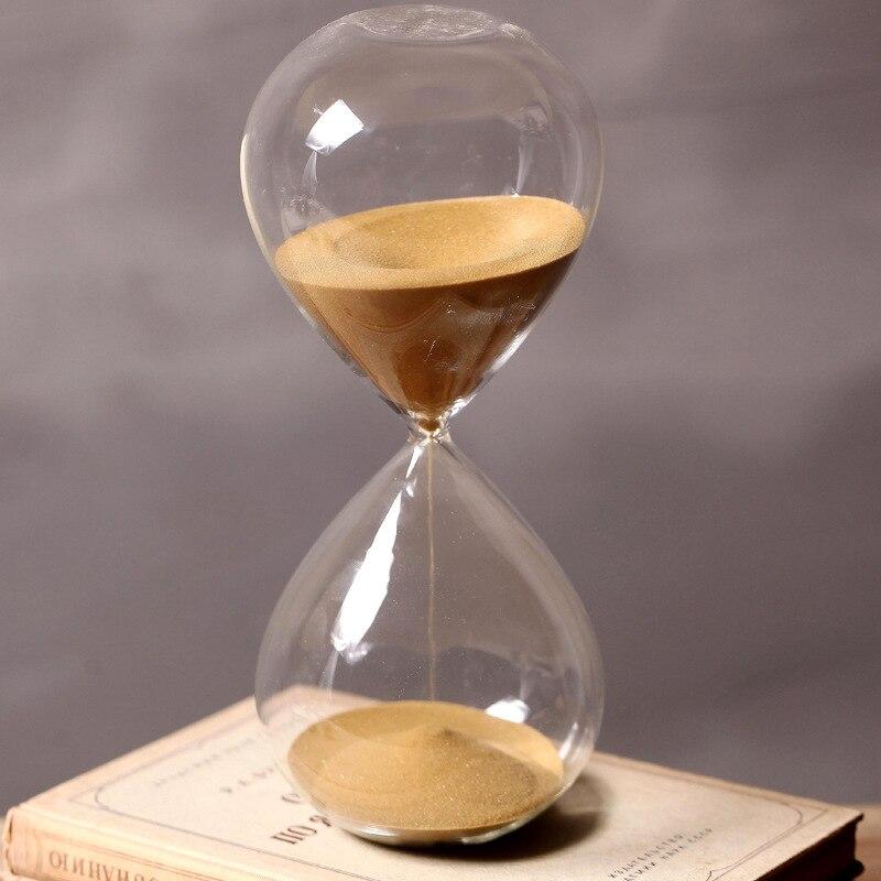 Ampulheta de Vidro Reloj de Arena Minutos Ampulheta Cronometrando 60 Altura 24 cm Presente Criativo Temporizador da Areia Areia Dourada Decoração