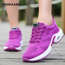 Fooraabo модные Брендовая женская обувь осень дышащие сетчатые женская повседневная обувь нескользящие Zapatos Mujer Tenis Feminino обувь