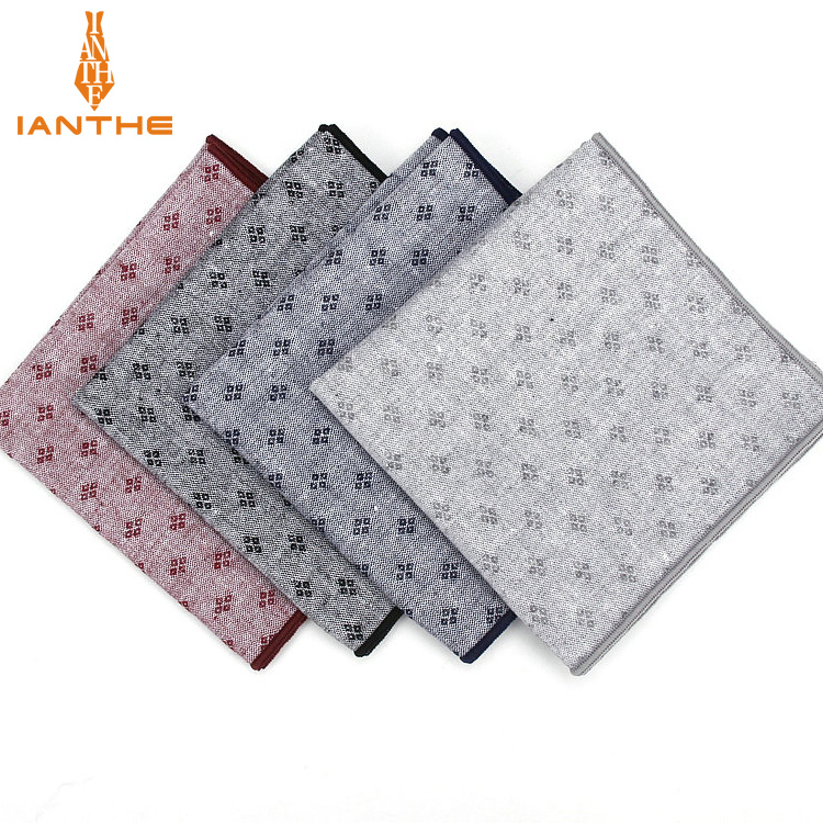 Luxury 100% Cotton Classic Suits Pocket Square 25cm*25cm Men's Handkerchiefs Polka Dot Chest Towel Men Wedding Hanky Gift