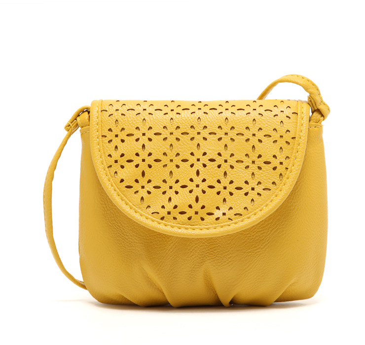 831945643639 Women Girls Yellow Color PU Leather Mini Small Satchel Shoulder Bag Cross  Body Messenger Tote Handbag Phone Case Bag