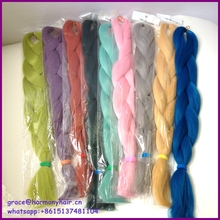 1pc/lot Many BRIGHT colors for your choice  24″ braiding synthetic hair one tone color/Original colors synthetic jumbo braid