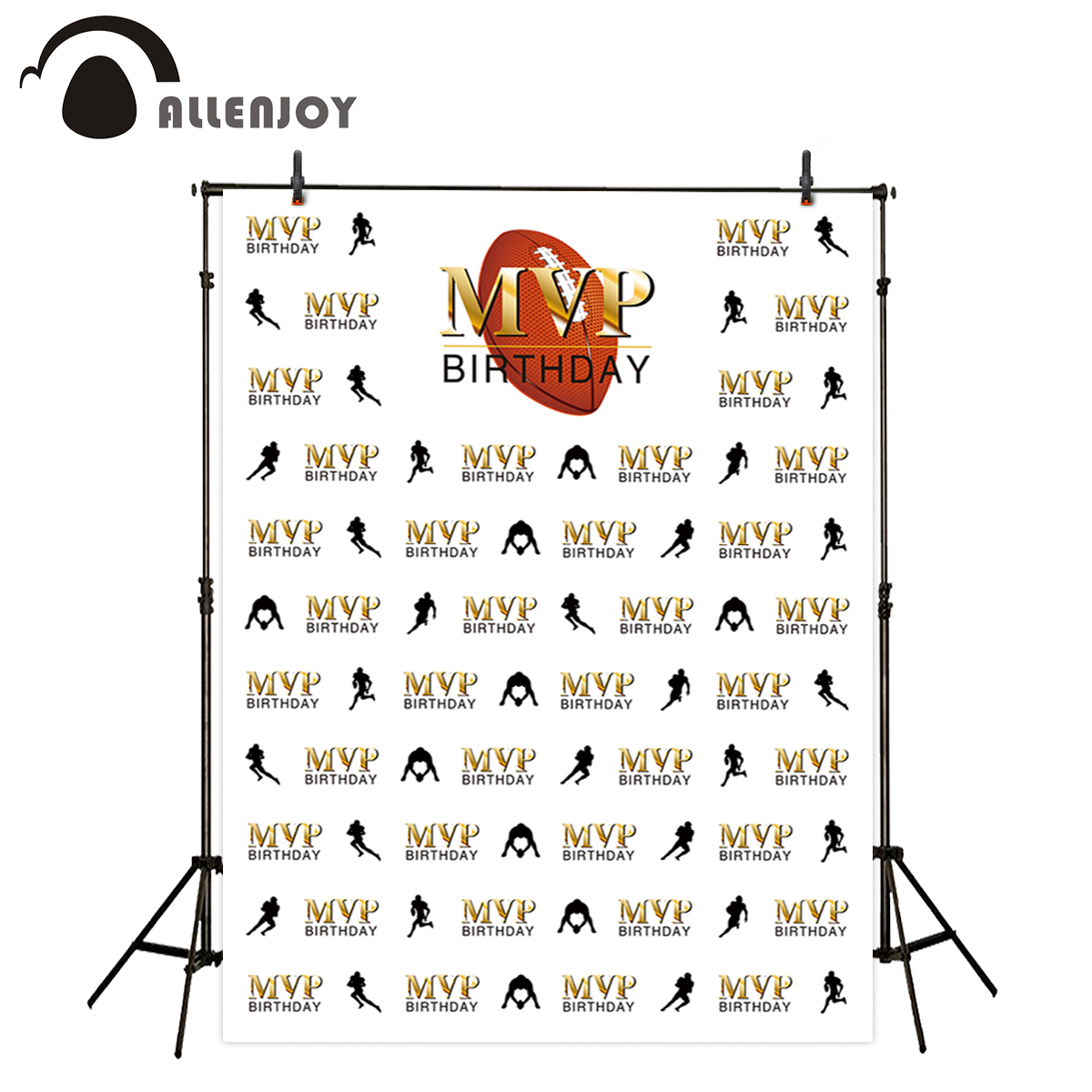 Allenjoy backgrounds for photo studio football theme birthday party step and repeat MVP backdrop photography photo shoot