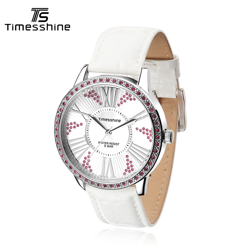 Timesshine Quartz Watch Waterproof 50M Luxury Crystal diamond Women Clock Female Ladies Dress Wristwatch Gift relojes mujer FW15 timesshine women watch quartz watch