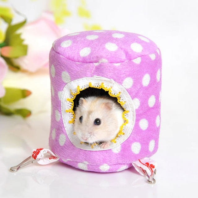 New 10cmX10cm Hammock Stump-stype Warm Nest Pet Hanging Bed House  for Ferret Rabbit Rat Hamster Squirrel Parrot Toys