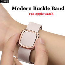 Strap for Apple Watch band 42mm 38mm 44mm 40mm correa iwatch 4 3 modern buckle leather bracelet apple watch accessories