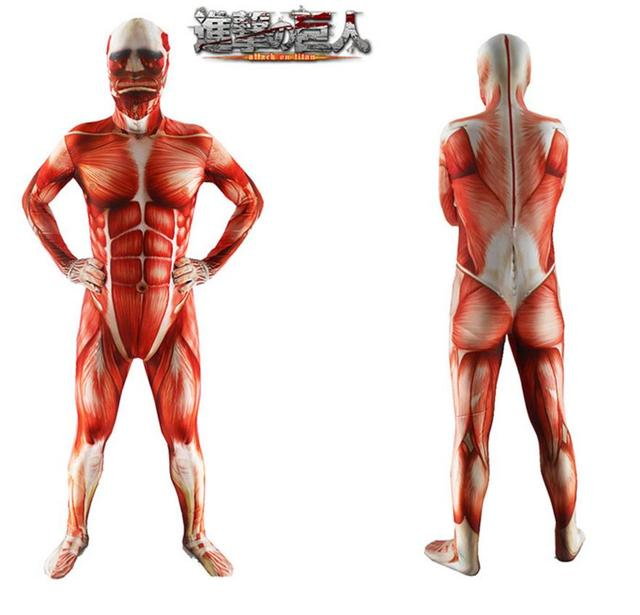 Attack On Titan Cosplay Armored Titan Costume Men Muscle Muscular