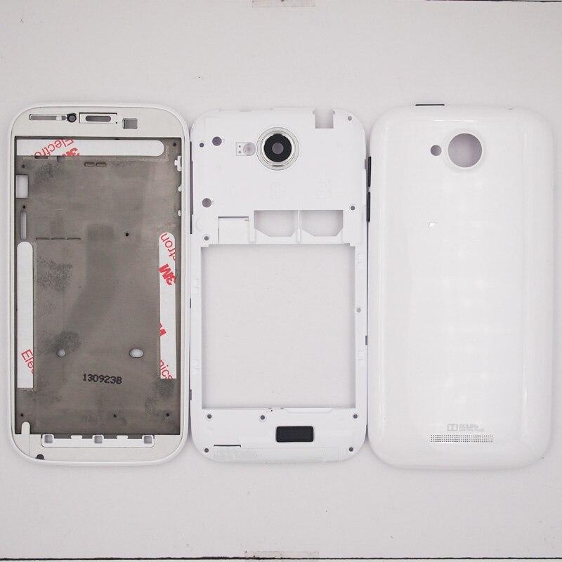 imágenes para 100% Nuevo LCD Marco Frontal tapa de La Batería Puerta de Atrás Cubierta de la cubierta Del Caso Para Lenovo A706 Con Lente de La Cámara + de Volumen de Energía botones