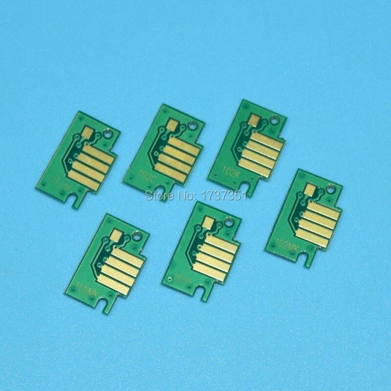 Chip de Cartucho ipf500 ipf510 ipf600 ipf610 ipf700 Color : Mbk, mbk, bk, c, m, y - 6 Color
