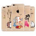 Для iPhone 7 Plus Case для Apple iPhone 5 5S 5 SE 6 6 S 7 Плюс Силиконовые Мягкий ТПУ Цветок Cat Shell Сумки Fundas Capa Para крышка