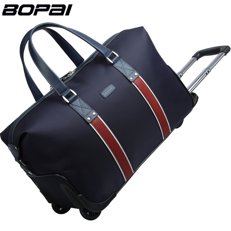 2d8ac7457e19 2016 New Arrival BOPAI High Quality Travel Bags On Wheels Trolley Bag  Rolling Bag in Waterproof Fabric Unisex Luggage Handbags