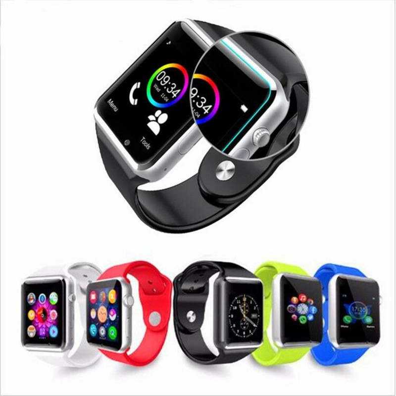 A1 smartwatch smart watch con cámara bluetooth podómetro sleep tracker MP3 Llama