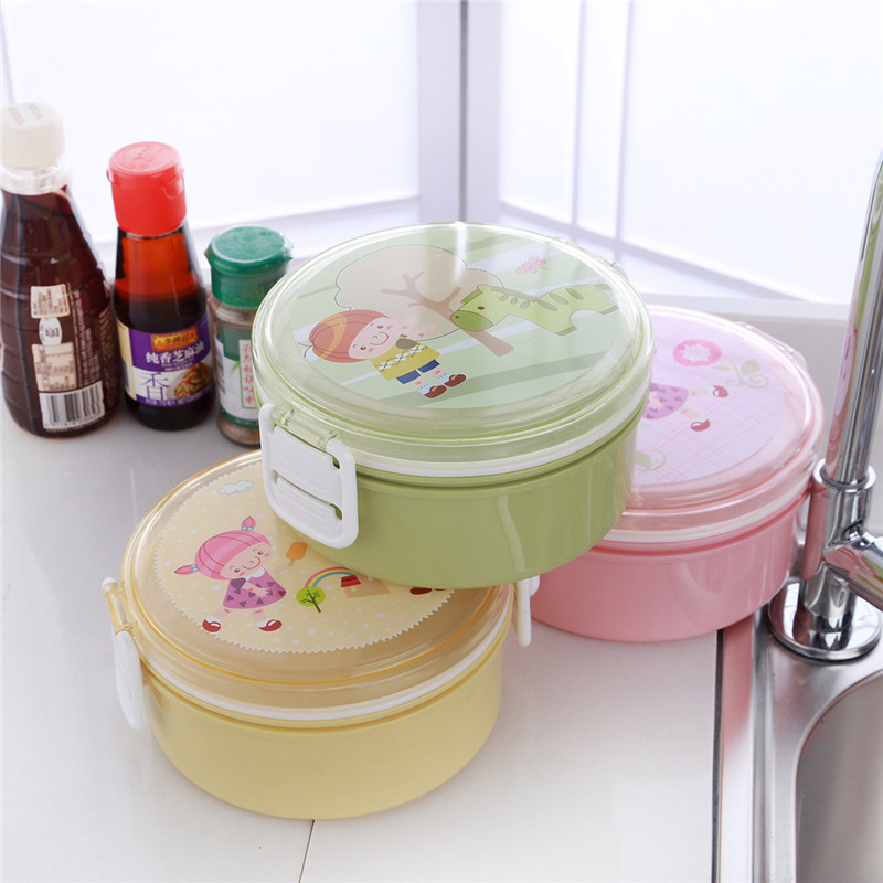 850ml Lunch Boxes School Student Bento Box Microwave Camping Travel Portable Lunchbox Tableware