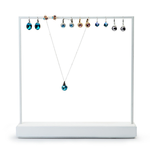 Image 4 - FANXI Jewelry Display Rack White Metal Earrings Necklace Display Holder Jewelry Organizer Expositor Jewelry Display Stand