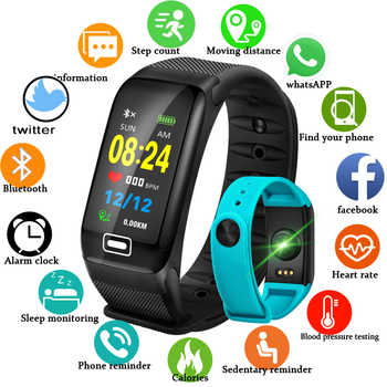 LIGE Smart Sport Bracelet New Waterproof Watch Blood Pressure Heart Rate Detection Pedometer for ios Android Fitness Watch +Box - DISCOUNT ITEM  82% OFF All Category