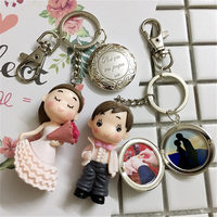 Fashion Lover S Diy Keychains Put Your Private Custom Photo Wedding For Men And Women Key