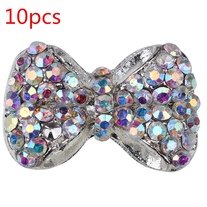 BEAUTY7 10pcs Alloy Rhinestone Bow Tie Nail Art Tip