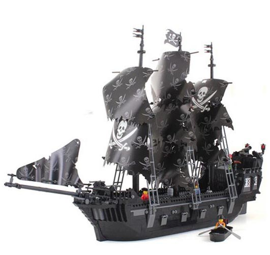 DEPLOYS Building Block Sets Compatible  ship pirates king 87010 1184pcs 3D Construction Brick Educational Hobbies Toys for Kids