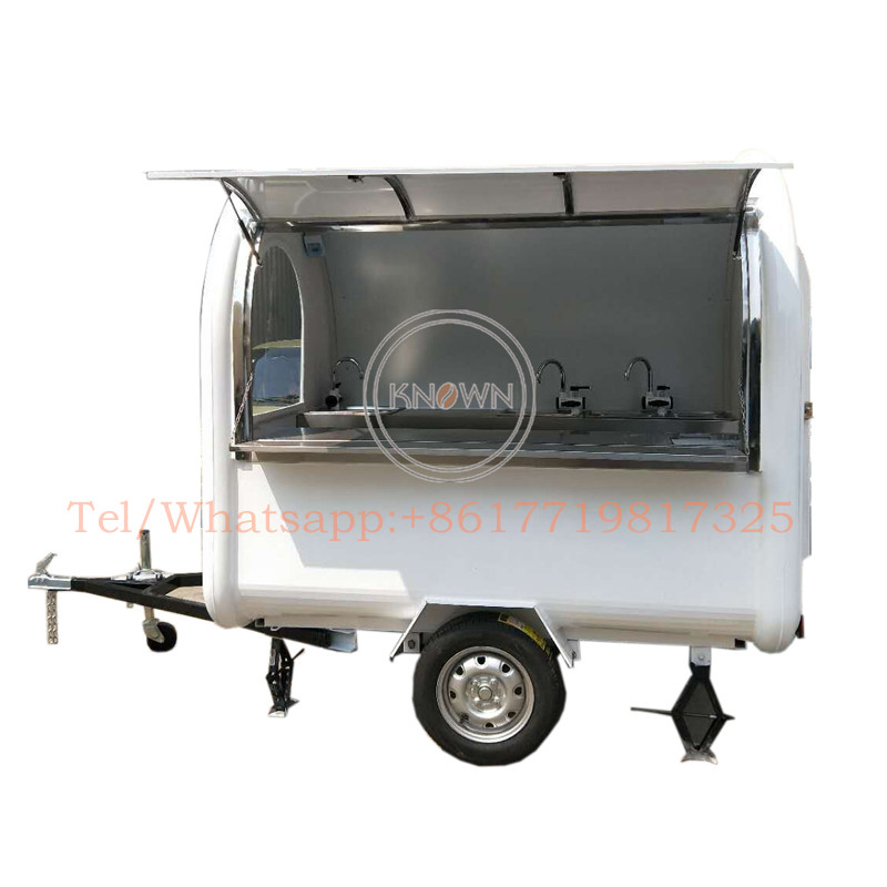 220*160*210 Stainless Steel Food Truck Mobile Pizza Carts High Quality Food Truck Pizza Trailer For Sale