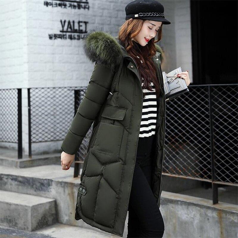 Longue Veste Green Plus De Chaud Manteau Famale Vêtements Coton F16qw1xR