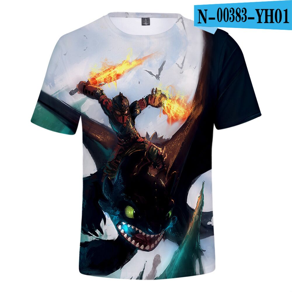 Children T-Shirt Toothless Kids Tops Train Dragon Summer Street How Cool Boy Your Casual