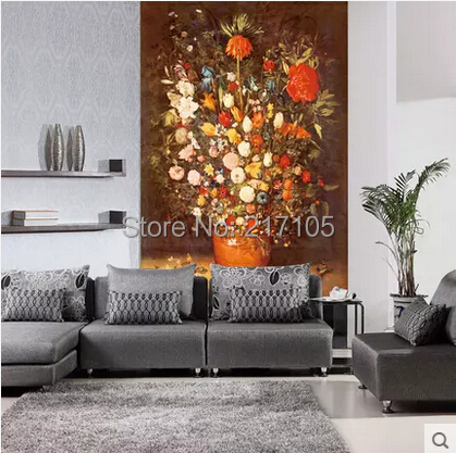 Free shipping large custom murals porch to the sitting room TV setting wall paper wallpaper painting flowers free shipping deconstruction blue bird bird personalized painting large murals mak wallpaper custom size