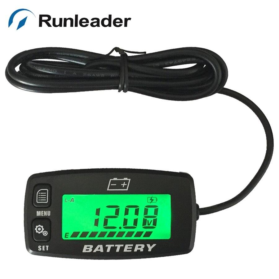 New Backlight 12v 24v 36v 48v Lcd Battery Indicator Voltmeter For Golf Carts Motorcycle Forklift