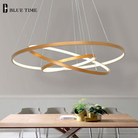 Gold Black Led Ceiling Light Hang lamp Circle Rings Led Ceiling Lamp For Living room Dining room Bedroom Home Lighting Fixtures