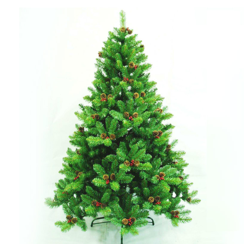 1.8 meters red pinecone mixed christmas tree artificial christmas tree Christmas supplies encryption christmas tree