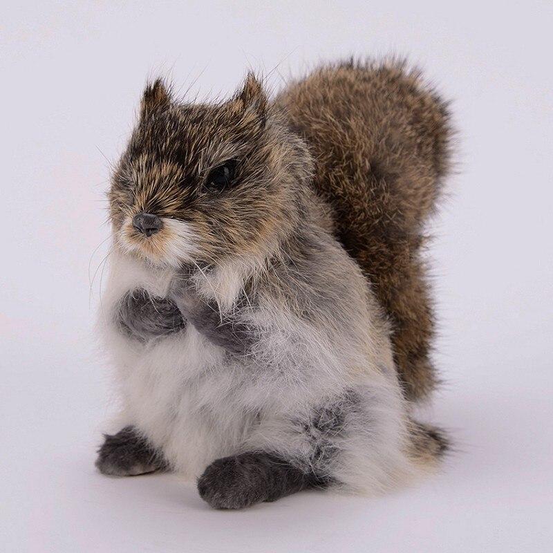 Small Animals Dolls Model Crafts Window-Decoration Plush-Toys Simulation-Squirrels Birthday-Gifts