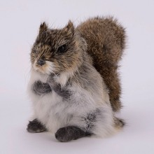 цена на Home Decoration Simulation Squirrels Small Animals Dolls Leather Plush Toys Model Window Decoration Birthday Gifts Crafts