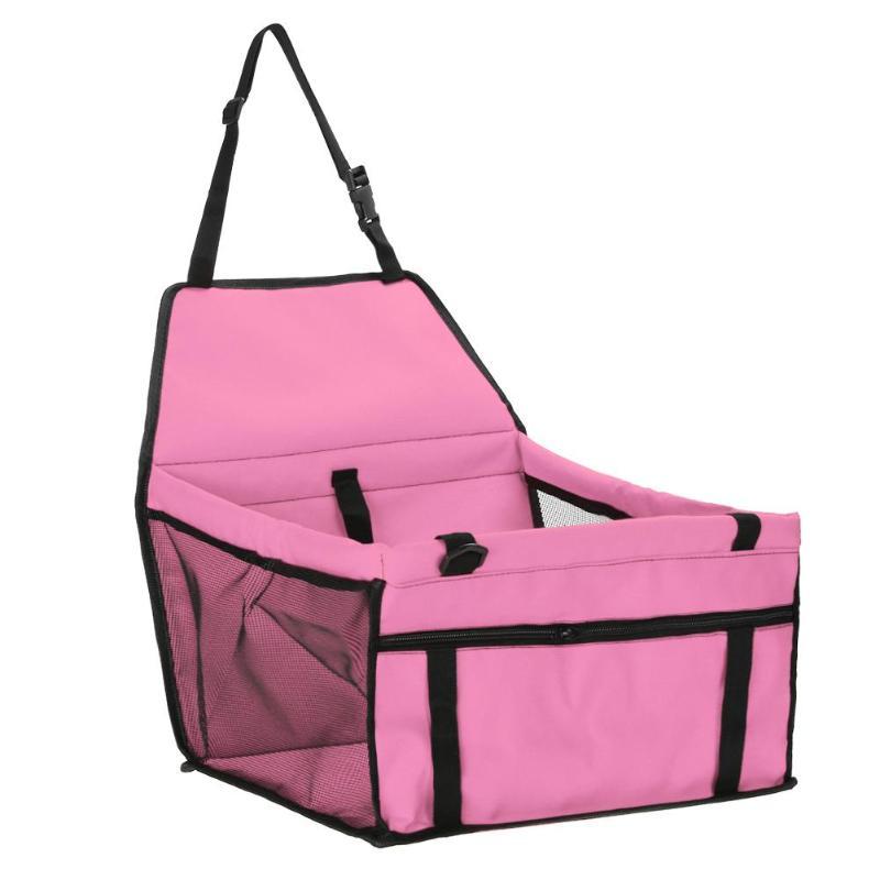 Pet Car Sheat Travel Basket-pink