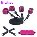 New 3 Pcs/Set Bondage Restraints Under bed Sex Handcuffs Ankle Cuffs Bondage Fetish Kit Blindfolds Sex Toys for Couple Sex Shop